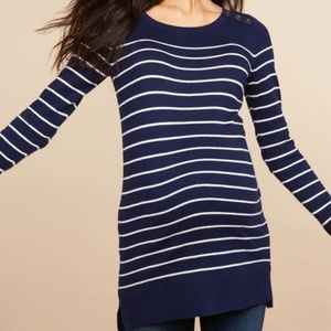 Motherhood Maternity Navy Striped Sweater